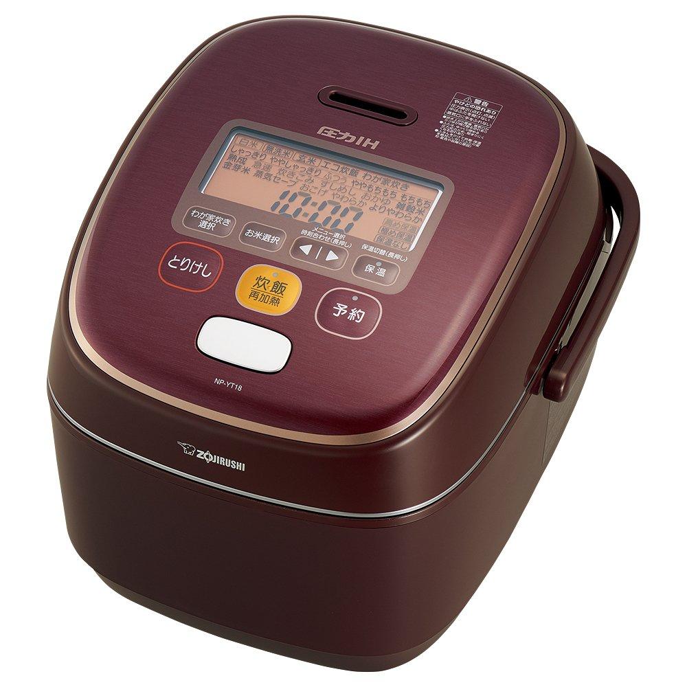 象印 炊飯器 一升 圧力IH式 極め炊き ボルドー NP-YT18-VD 1升(5人以上)  B01GZU88CU