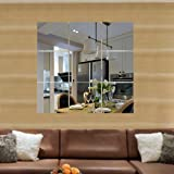 SelfTek 9Pcs Mirrors Stickers Square Self Adhesive Wall Transfers Stickers