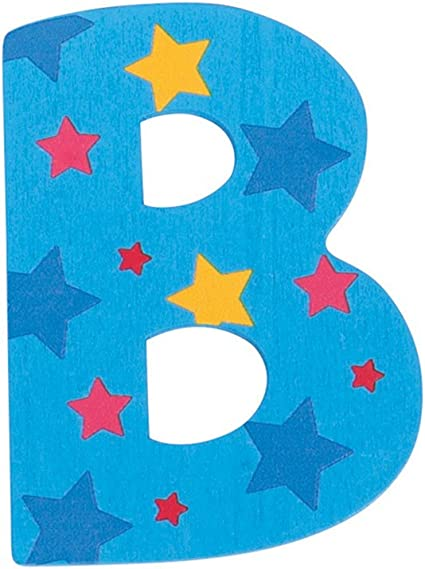 Bigjigs Toys Star Letter F Blue