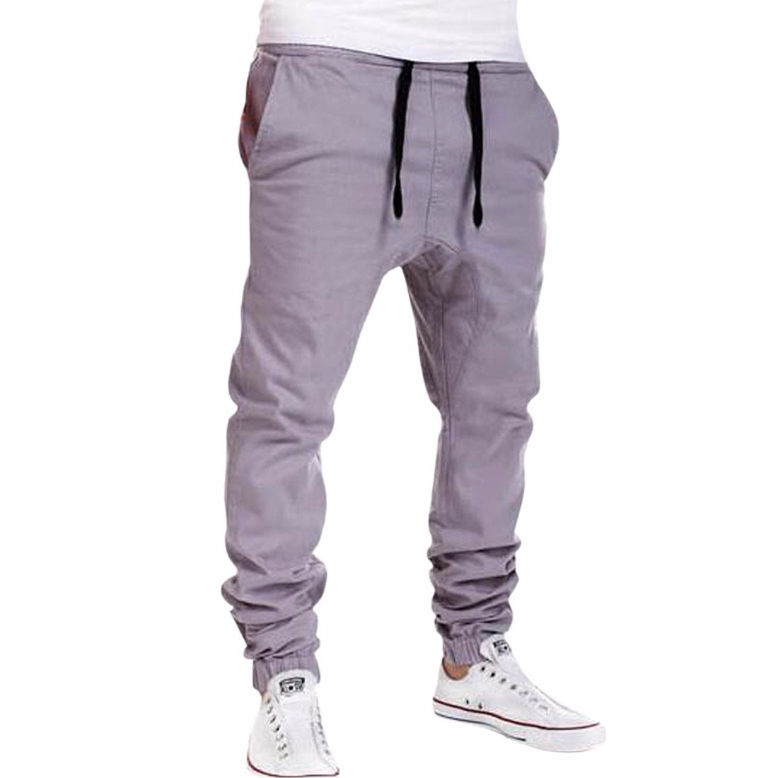 Mens Casual Jogger Sportwear Baggy Harem Pants Slacks Trousers Sweatpants Slim E6051S0146