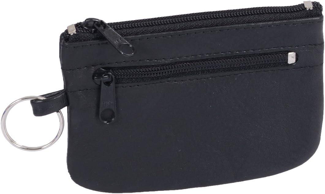 Schl/üsseltasche BASIC in Echt-Leder 11x7cm schwarz