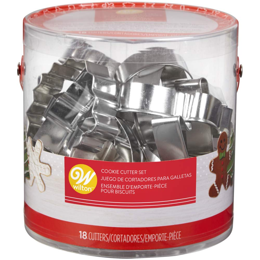 Wilton Holiday Shapes Metal Cookie Cutter Set, 18-Piece 2308-5454