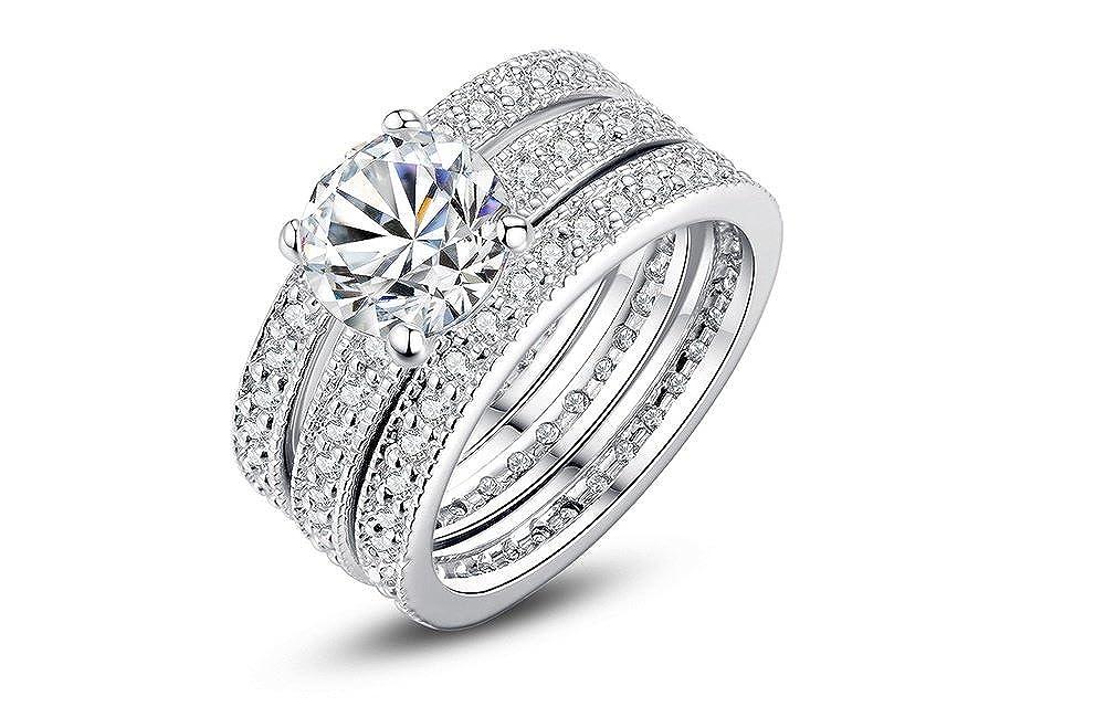 promoción especial nueva productos amplia selección de diseños Amazon.com: Dixey Luxury Argollas de Matrimonio en Plata ...