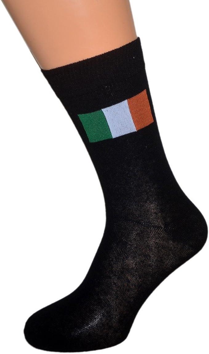 Oaktree Gifts Par de calcetines irlandeses con bandera de Irlanda: Amazon.es: Ropa y accesorios
