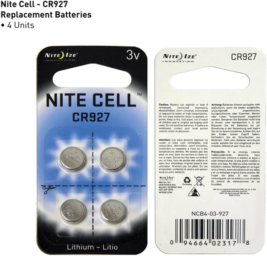 Card of 4 Nite Ize CR927 3V Lithium Battery