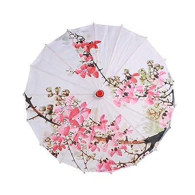 Escolourful Art Umbrella Classical Chinese Style Umbrella Parasol for Children Decorative Umbrella for Wedding Parties Photography Costumes : Garden & Outdoor