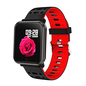 TDOR Smartwatch Reloj Inteligente, Android y iPhone, Llamadas y Whatsapp, Color Rojo