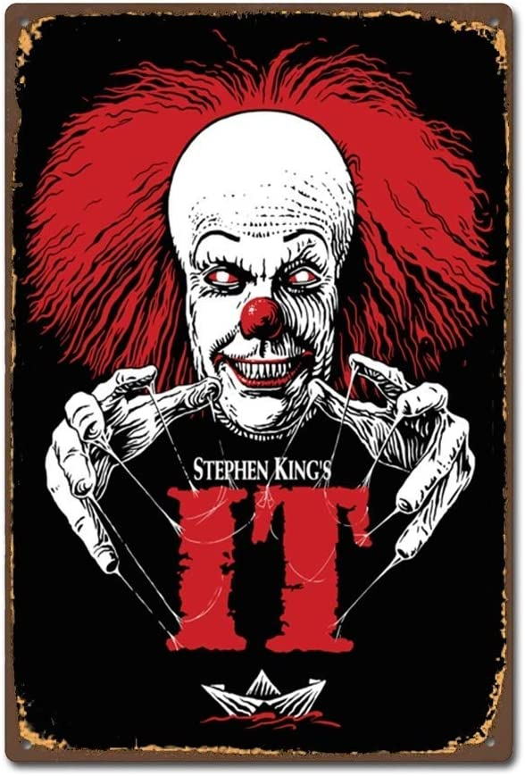 TGDB Classic Horror Film Movie Stephen King It 2017 Vintage Retro Tin Sign Size 8x12 inch