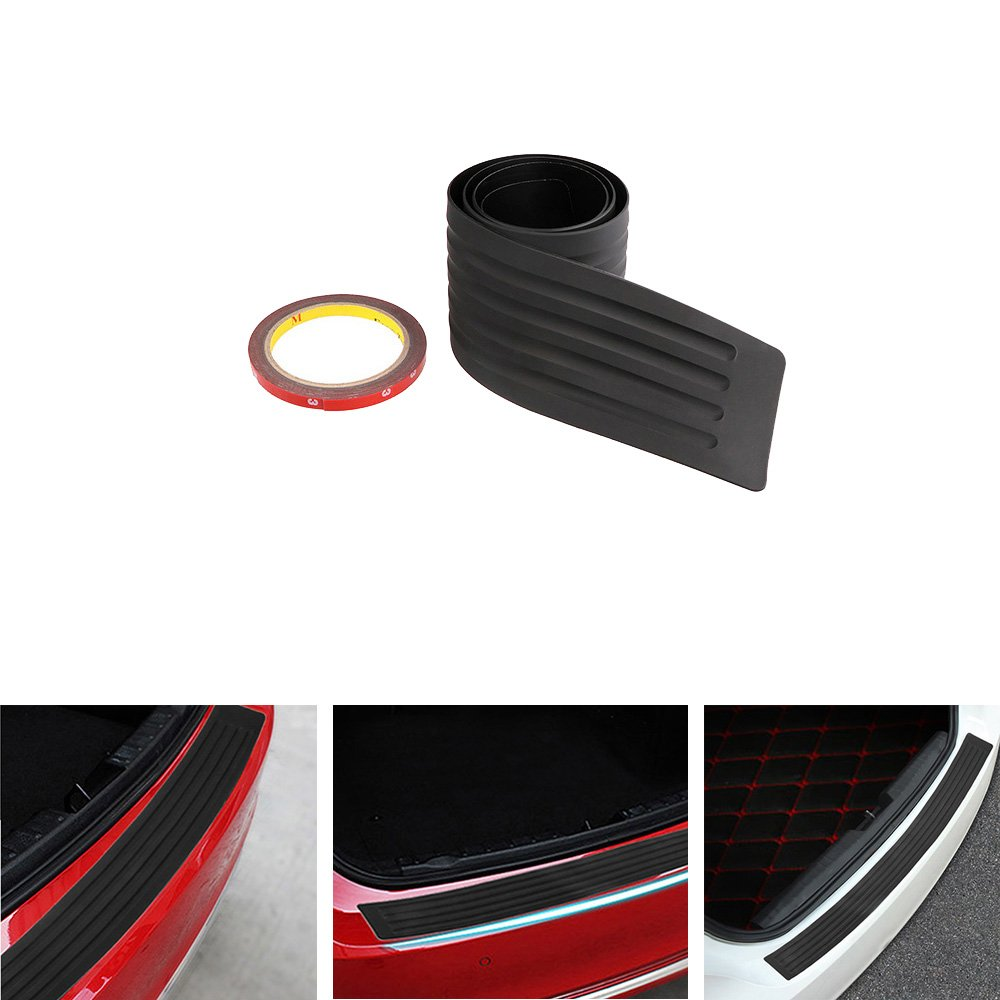 Onerbuy Anti-scratch Rubber Rear Guard Bumper Protector Trim Cover Universal Fit for Car Pickup SUV Truck 104cm//41