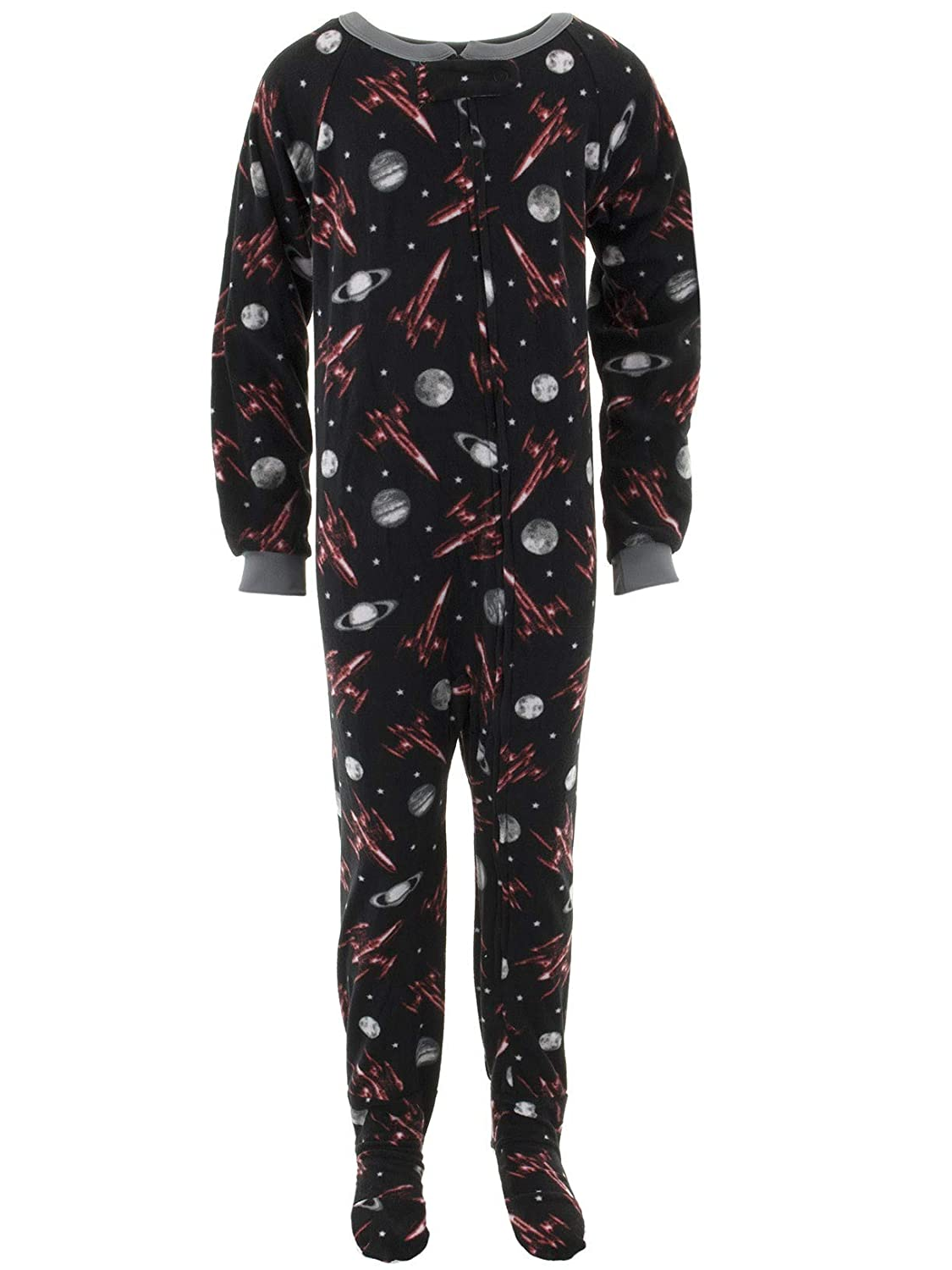 Quad Seven Little Boys Fun Novelty Footed Pajamas