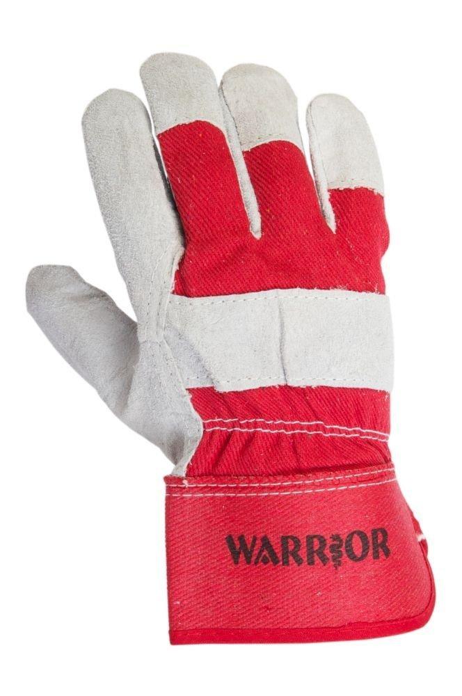 Grey//Red Pack of 12 Warrior Workwear 01PK11RIGA Split Rigger Glove Size 10