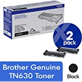 Brother Genuine TN630 2-Pack Standard Yield Black Toner Cartridge with Approximately 1,200 Page Yield/Cartridge