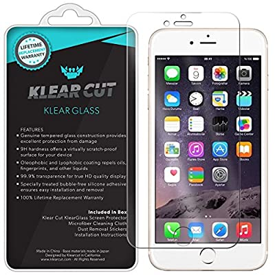 iPhone 7 Screen Protector, Klear Cut KlearGlass Ballistic Tempered Glass Screen Protector for iPhone 7 HD Clear 9H Hardness Anti-Bubble Shield - Lifetime Warranty