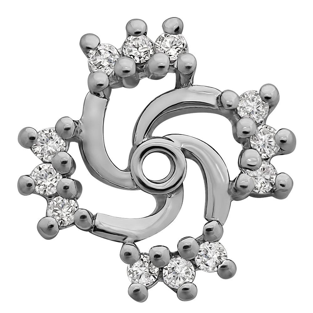 0.19 ct. tw. Sterling Silver Moissanite Swirl Earring Jacket with Forever Brilliant Moissanite