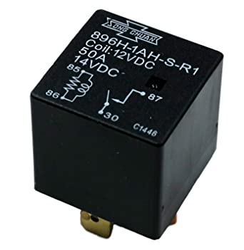 Pack of 2 Song Chuan 896H-1CH-D Mini ISO high Power Automotive Relay 30A//50A 12VDC
