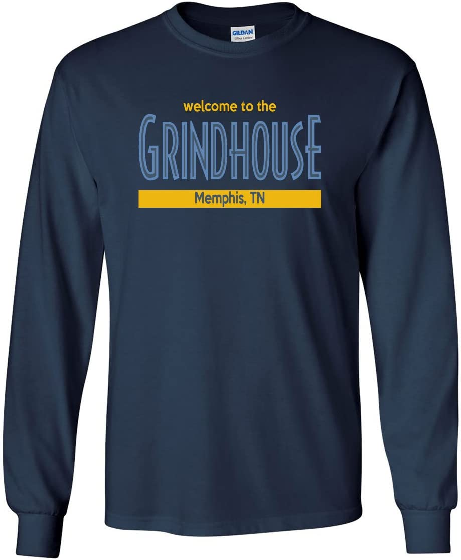 The Silo Long Sleeve Navy Memphis Welcome to The Grindhouse T-Shirt