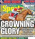 JUSTIFY 2018 TRIPLE CROWN CHAMPION 6/10/2028 NEW YORK POST NEWSPAPER-COLLECTORS ITEM RARE