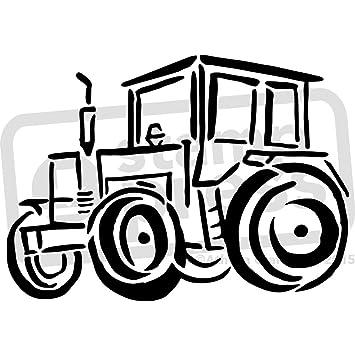 A5 Traktor Wandschablone Vorlage Ws00001006 Amazon De Spielzeug
