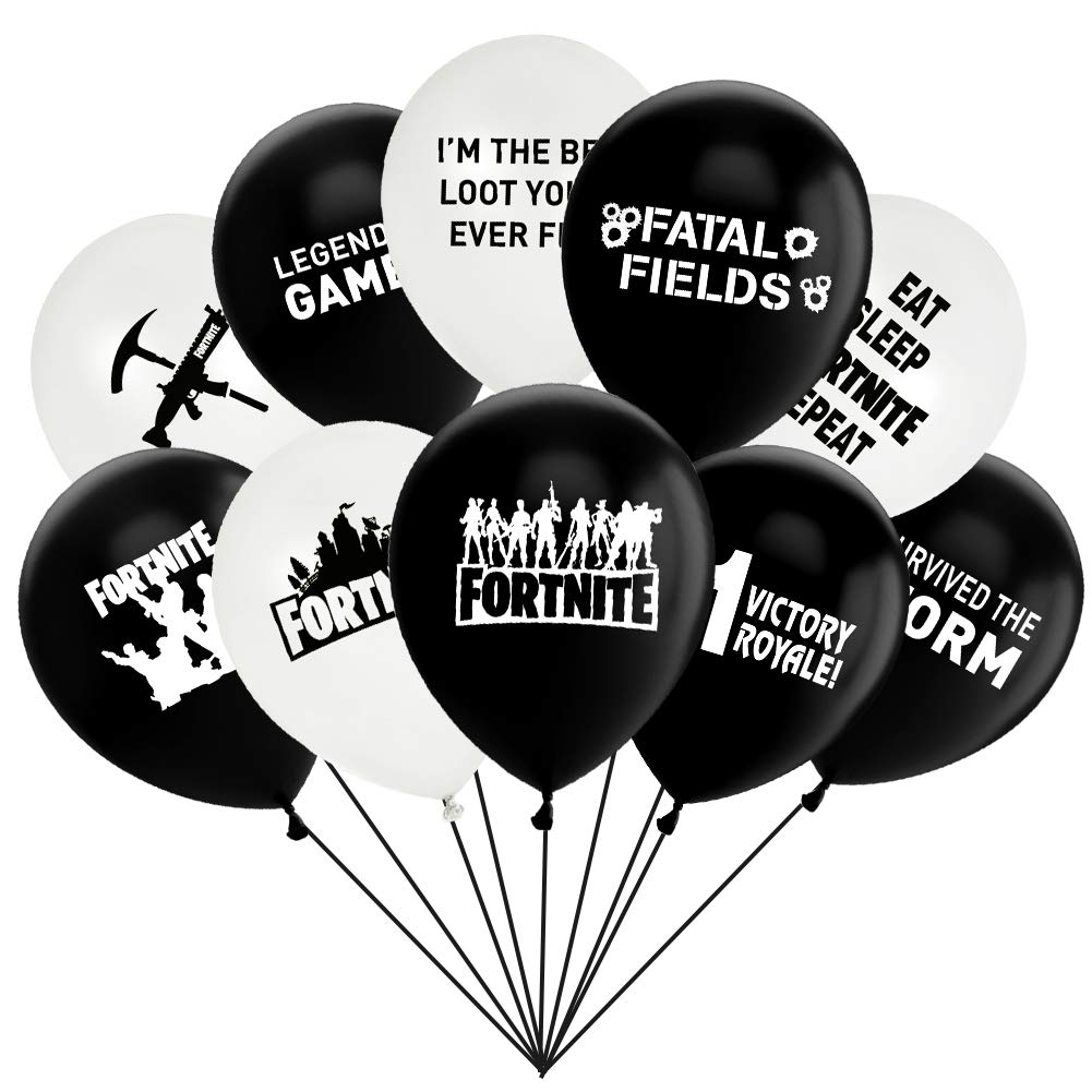 Gaming Latex Balloons Happy Birthday Party Supplies Decoration, Kids Double-side Designs 12 Inches 50 Count TMCCE