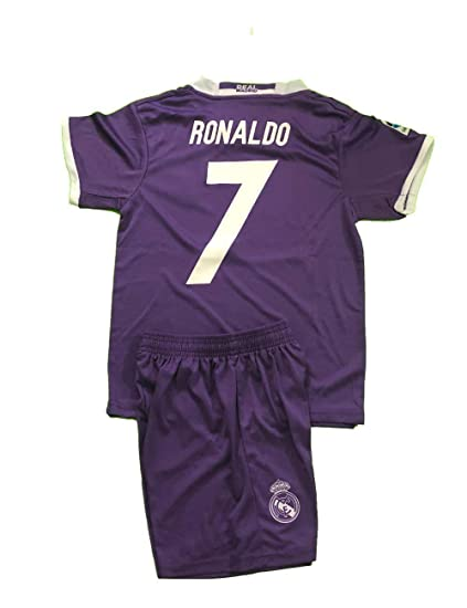 check out df3f6 d7b9b Amazon.com : REAL MADRID # 7 RONALDO SOCCER KIDS UNIFORM ...