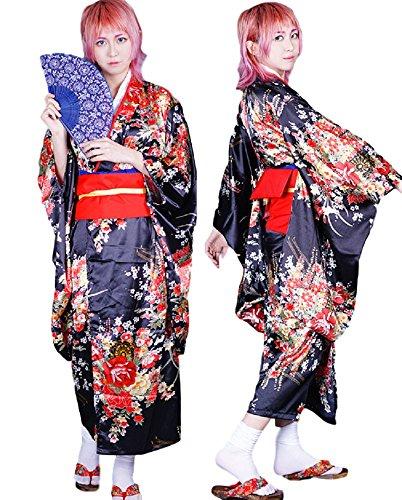 GK-O Hell Girl Jigoku Shoujo Enma AI Japanese Kimono Cosplay Costumes (Asian Size M)