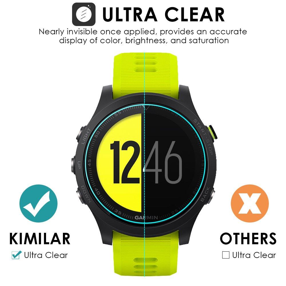 KIMILAR Garmin Forerunner 935 Protector de Pantalla, [Ultradelgado de Cristal] [9H Dureza] [2.5D Ronda Edge] Vidrio Templado Película de Protección para ...