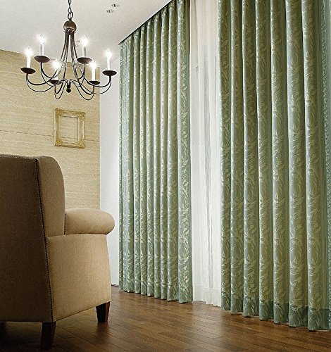 アスワン 光沢糸で織り上げられた花のデザイン カーテン1.5倍ヒダ E6136 幅:150cm ×丈:230cm (2枚組)オーダーカーテン 230  B0784WSDFH