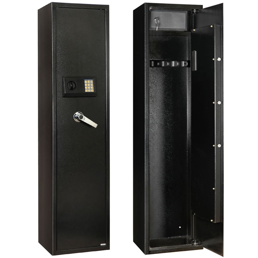 Xnonix Security 5 Gun Rifle Storage Electronic Lock Shotgun Pistol Cabinet Safe Firearm