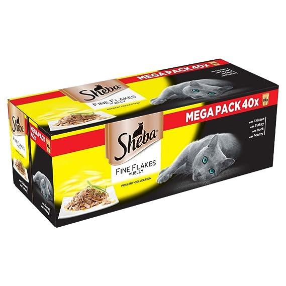 Sheba Fine Flakes - Bolsas para Gatos (85 g): Amazon.es: Productos para mascotas