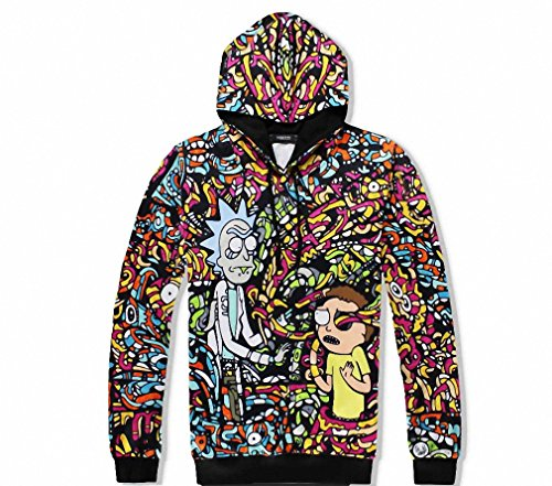 Unisex 3D Print Hoodies Mens Anime Sweatshirt With Cap Funny Womens Cosplay Clothing Cool Cartoon Costume Brown L (Cool Anime Costumes)