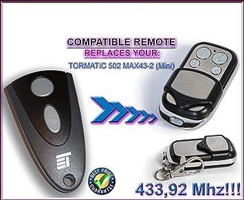 NORMSTAHL T433/ 4-canales Ersatz Transmitter zum Besten Preis. /4/Kompatibel Fernbedienung destancia 433,92/MHz Rolling Code