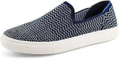JABASIC Women Knit Slip On Sneakers Comfortable Walking Loafers