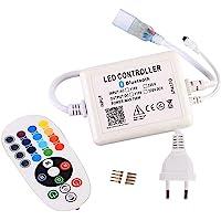 GreenSun LED Lighting Bluetooth-controller voor ledstrips, 24 toetsen afstandsbediening met afstandsbediening, 220 V…