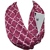 Pop Fashion Scarves for Women, Girls, Ladies, Infinity Scarf with Zipper Pocket Pattern Print Lightweight Wrap - $44.99