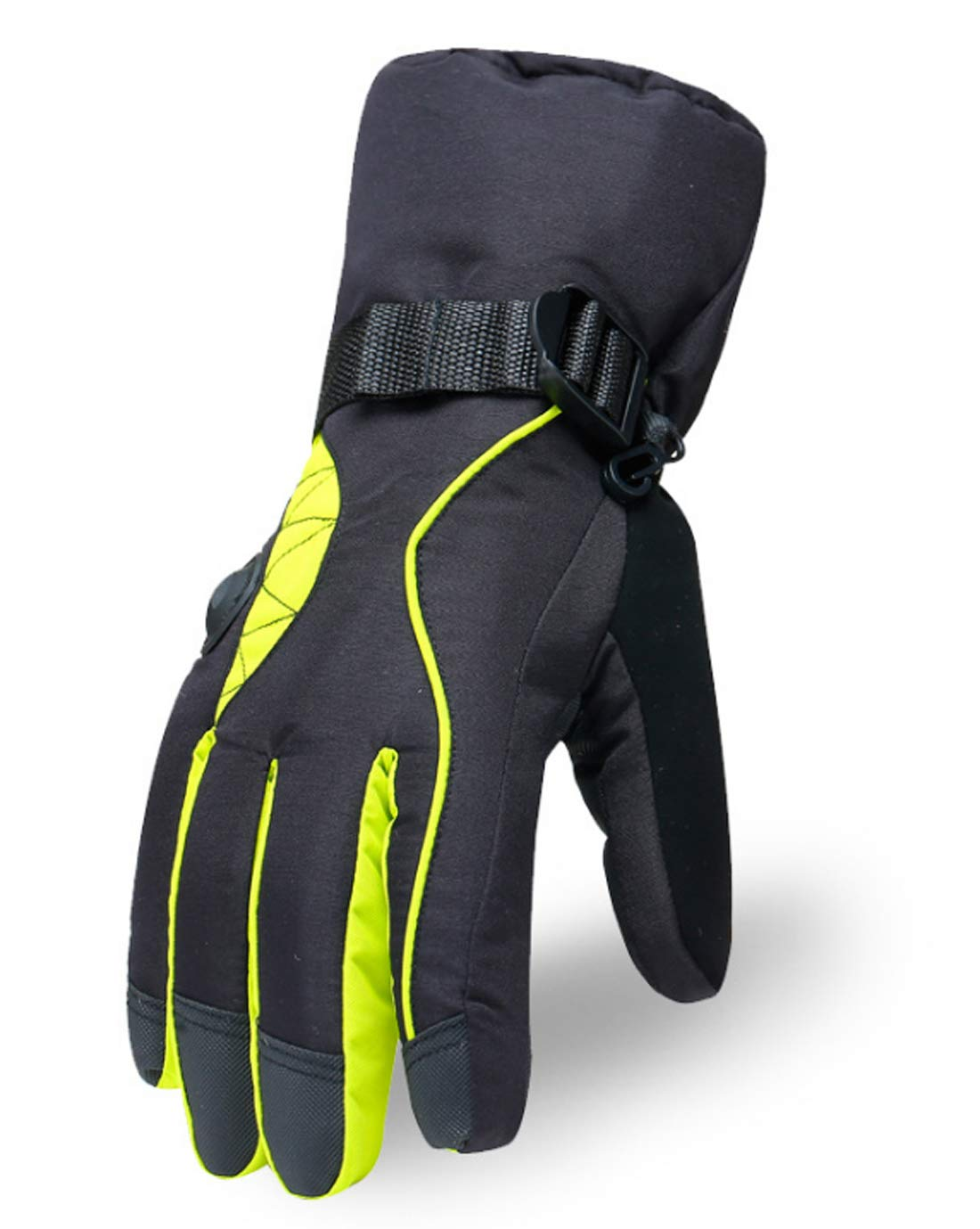 KuanDar 登山用暖かい手袋 屋外用 寒冷暖かい手袋 防風 防水 通気性 滑り止め スキー ハイキング キャンプ   B07K4ZFJ2X