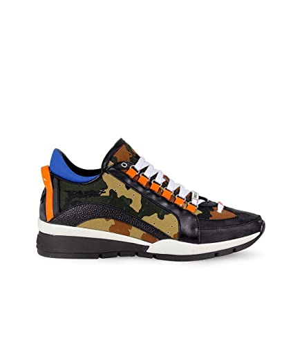 Dsquared2 Chaussures Baskets Sneakers Homme 551 Marron EU 44  W17SN4041412A008 261d2d1879ef