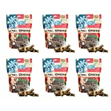 No Grainers by Nootie Jerky Chew Grain Free Liver Treats, 1-Pound, Hickory Bacon Flavor (6 Pack)