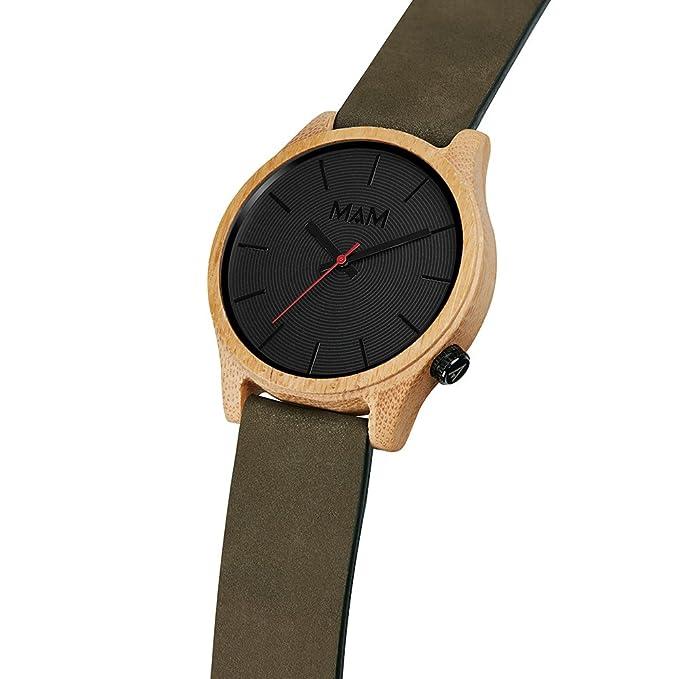 MAM Originals · Quail Green | Reloj de hombre | Diseño minimalista | Reloj de madera de bambú sostenible | Alta calidad a buen precio: Amazon.es: Relojes