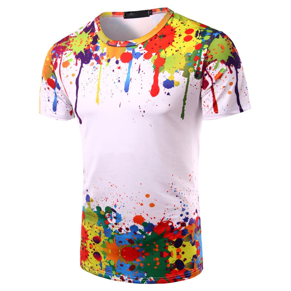 25/% Polyester T-Shirt Pas Cher Manadlian Chemise Hommes Tops Ete 2019 Blouse Impression Col Rond Manches Courtes 75/% Coton
