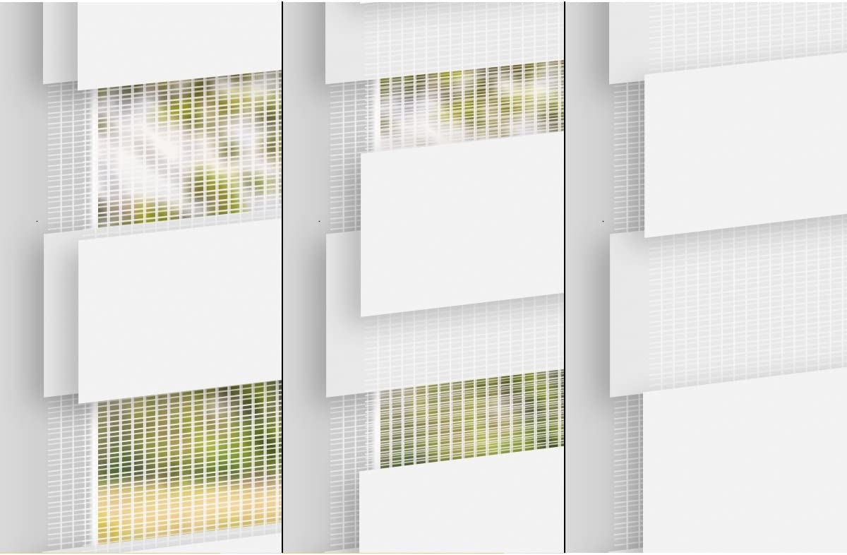 Klemmfix ECD Germany Store Enrouleur Double 110 x 150 cm avec Supports de Serrage Pare-Soleil- mat/ériel de Fixation Inclus Store occultant sans per/çage Blanc
