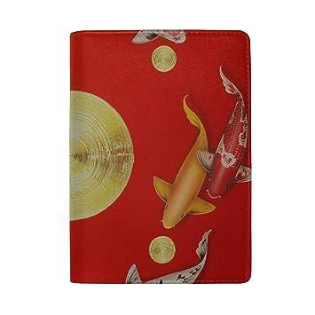 a52c02d7109e Amazon.com | Auspicious Koi Painting Blocking Print Passport Holder ...