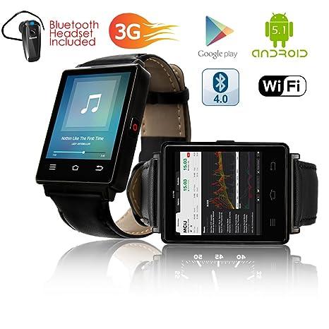 Indigi® gsm Desbloqueado. Elegante Android 5.1 Smart Reloj ...