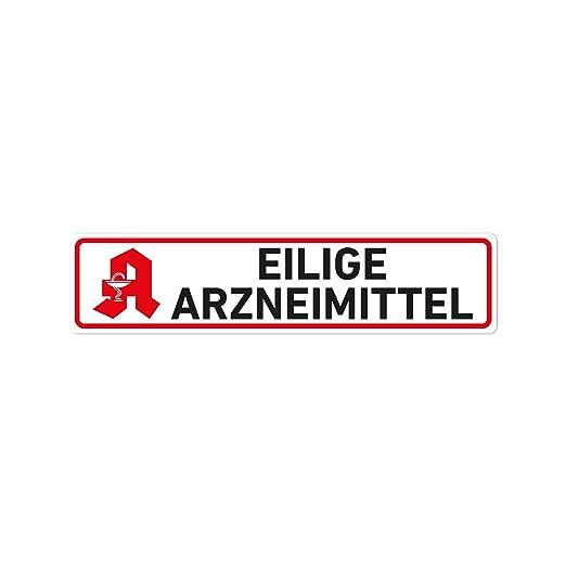 Eilige Arzneimittel Magnet Schild Kfz Auto Magnetschild Autoschild Apotheke Gewerbe Industrie Wissenschaft