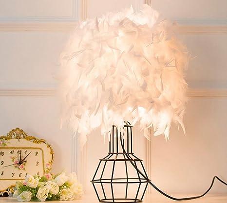Amazon.com: HAGDS Lámpara de mesa, plumas, lámpara de mesa ...