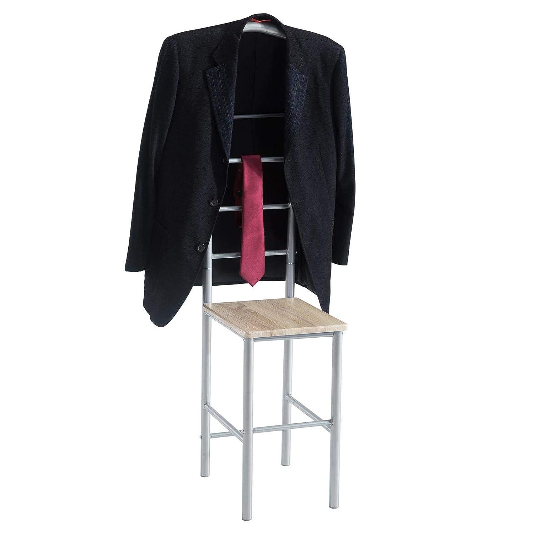 in grau anthrazit,121 cm Garderobe mit Hosenb/ügel CARO-M/öbel Herrendiener Stummer Diener Kleiderst/änder JIVO