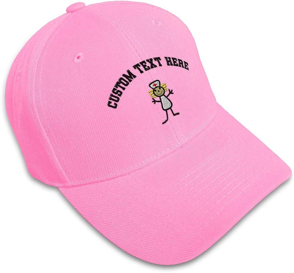 Custom Baseball Cap Nurse Stick Figure Embroidery Dad Hats for Men /& Women