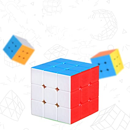 Aoile 3x3 Creative Magnetic Force Wateproof Speed Puzzle Cube Intellectual Development Smart Cube Colorful Without Stickers