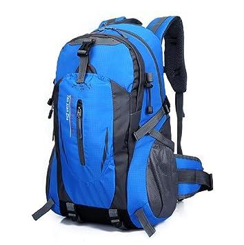 Sannysis mochilas hombre deportivas 40L, impermeable el equipaje de viaje (Azul): Amazon.es: Equipaje