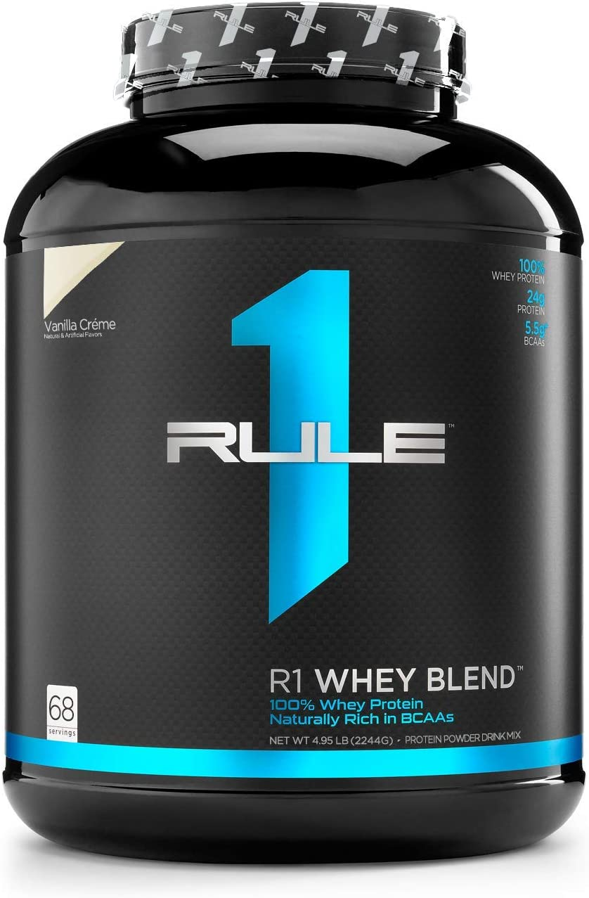 Rule One Proteins R1 Whey Blend, Rule 1 Proteins Vanilla Ice Cream, 68 Servings