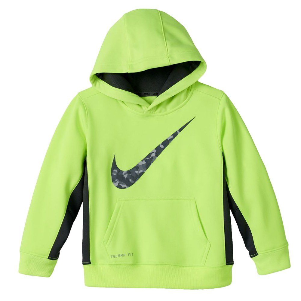 promo code 740a4 e3f3e Amazon.com: Nike Swoosh Little Boys Neon Green Volt Therma ...